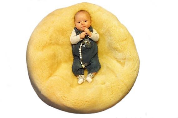 Yellow Baby Medical Sheepskin Bean Bag!