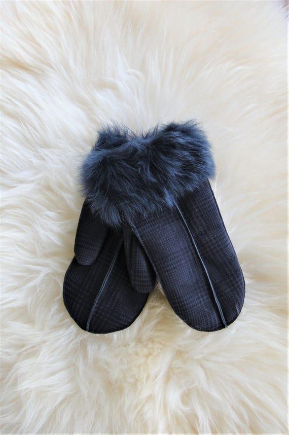 Winter sheepskin gloves. Unisex gloves. Gloves & mittens. Natural sheepskin.