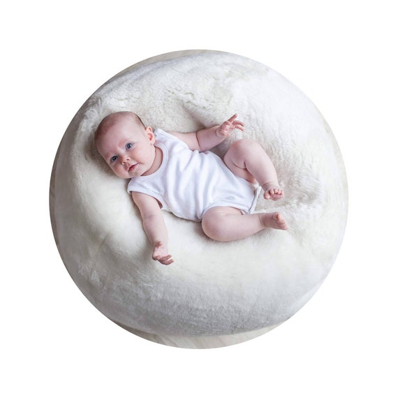 White Baby Medical Sheepskin Bean Bag!