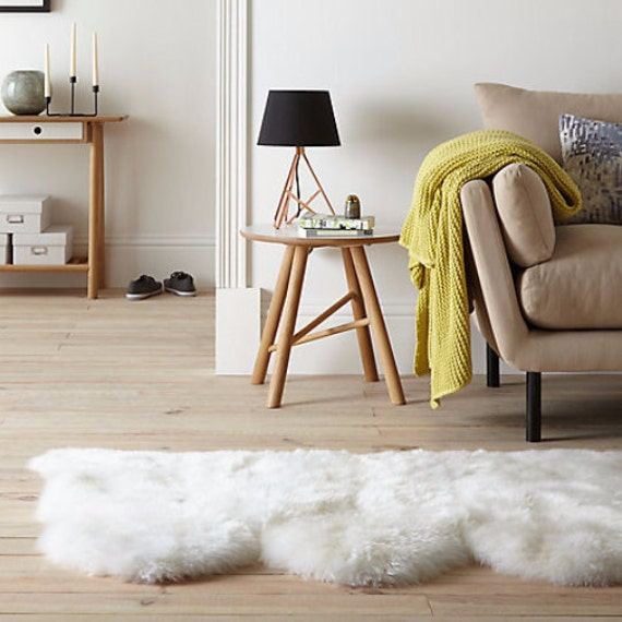 Triple Sheepskin Carpet Rug. Premium Quality! About 210cmx90cm! 7 Colors! Lambskin - Soft and Luxurious Long Hair.