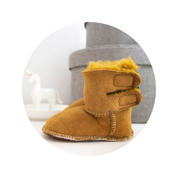 Real Leather Slippers For Kids. Genuine Leather And Natural Sheepskin Furry Slippers. Fluffy Boots For Kids.
