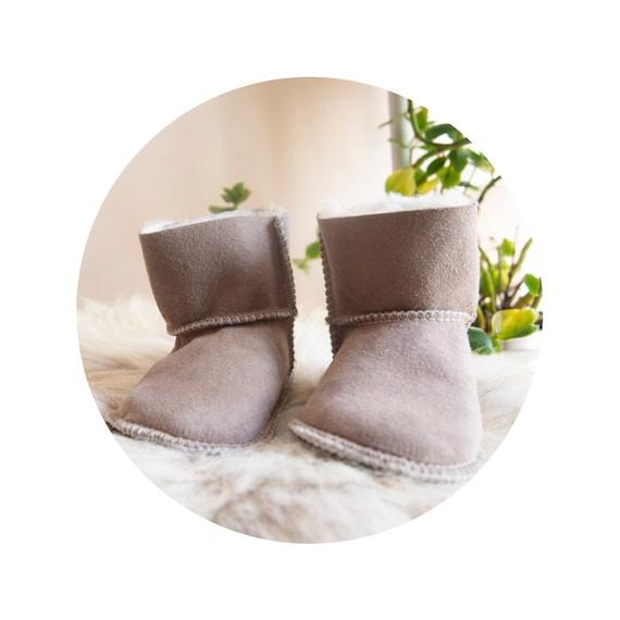 Baby Gray Sheepskin Boots.