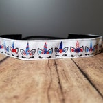 Patriotic Unicorn Nonslip headbands for women, no slip headband, workout headband, Running headband, Sports Headband for women