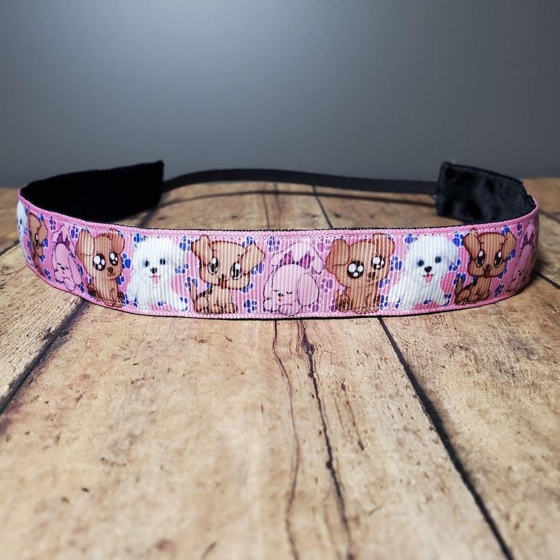 Puppy Nonslip headbands for women no slip headband workout image 0
