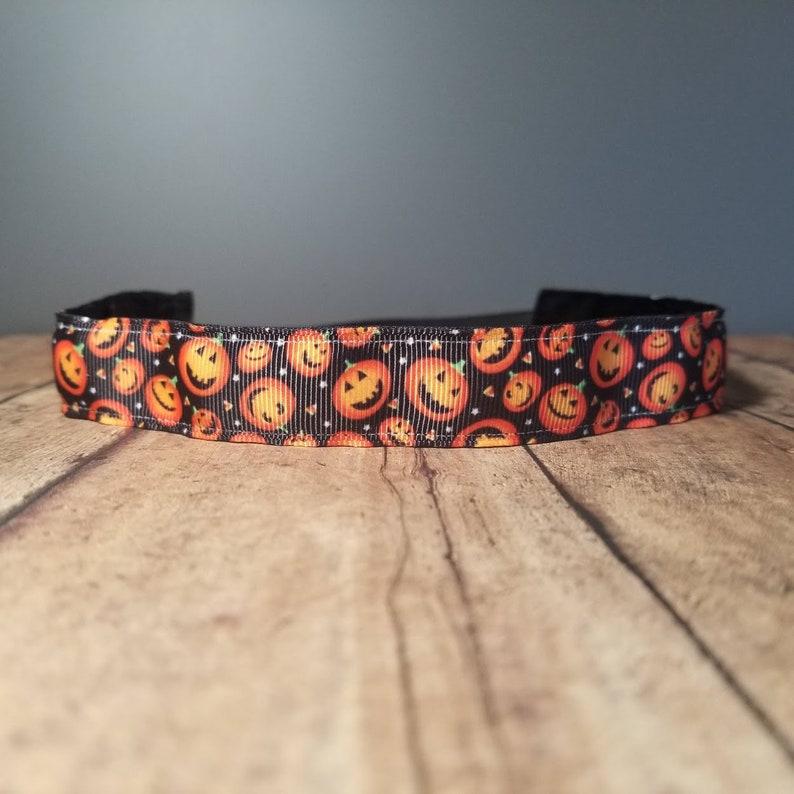 Pumpkin Nonslip headbands for women no slip headband workout image 0
