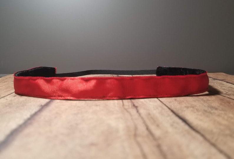Solid Red Nonslip headbands for women no slip headband image 0