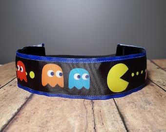 Pacman Nonslip headbands for women, no slip headband, workout headband, Running headband, Sports Headband, Athletic headband for women