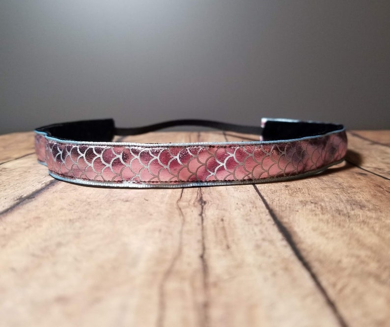 Pink Mermaid Nonslip headbands for women no slip headband image 0