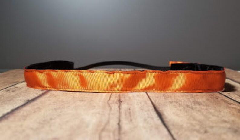 Solid Orange Nonslip headbands for women no slip headband image 0