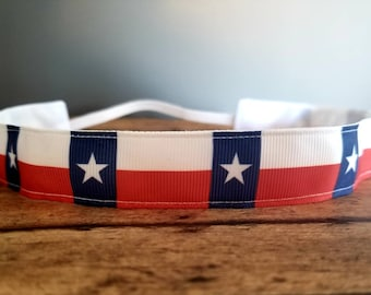 Texas Nonslip headbands for women, button headband mask, workout headband, Running headband, Sports Headband, Athletic headband for women