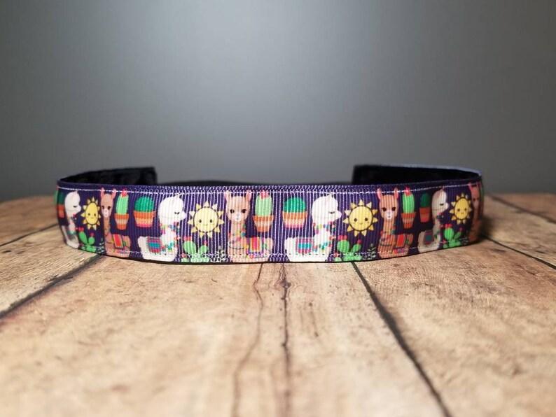 Llama Nonslip headbands for women no slip headband workout image 0