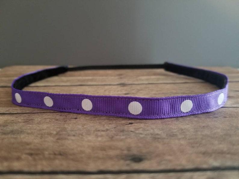 Purple Nonslip headbands for women no slip headband workout image 0