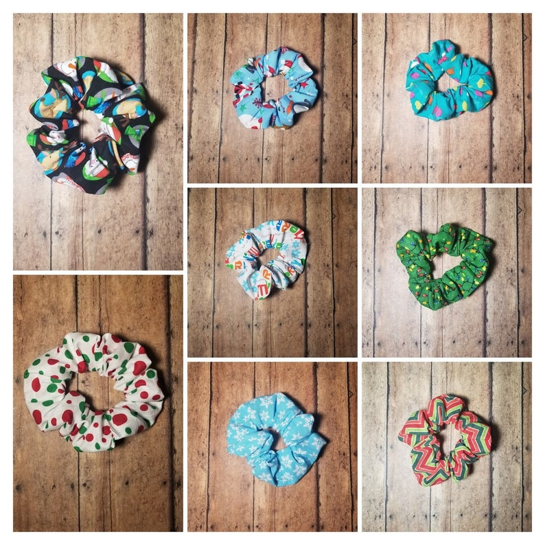 Christmas Scrunchie Hair Tie Party Favor Gift Exchange image 0