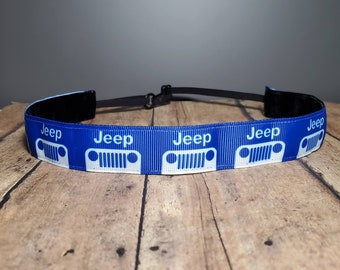 Blue Jeep Nonslip headbands for women, no slip headband, workout headband, Running headband, Sports Headband, Athletic headband for women