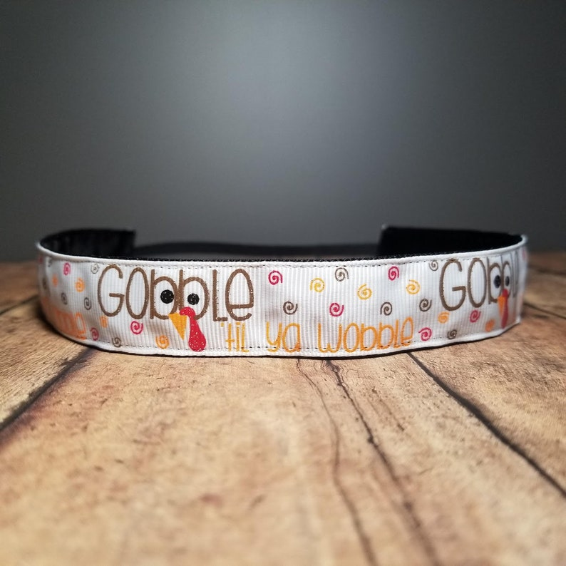 Gobble Wobble Nonslip headbands for women button headband image 0