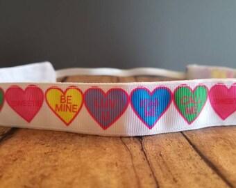 Valentine candy Nonslip Headband, Noslip Headband, Workout Headband, Sports Headband, Running Headband,