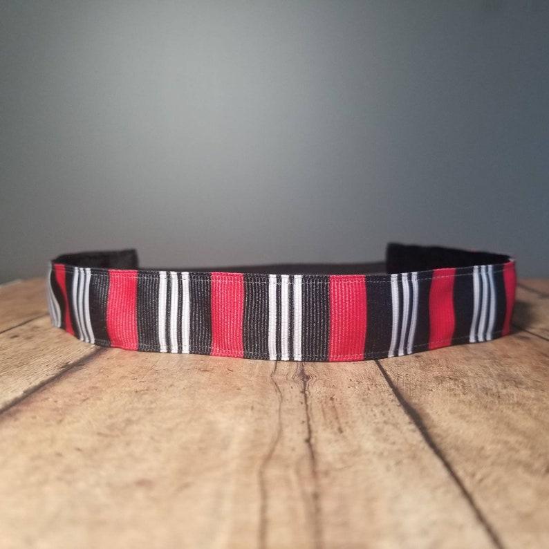 Striped Nonslip headbands for women no slip headband workout image 0