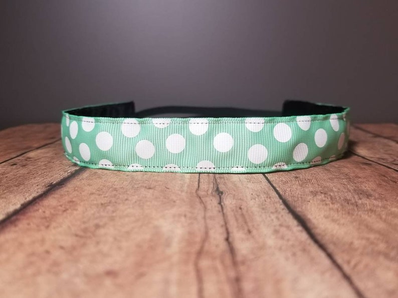 Green Dot Nonslip headbands for women no slip headband image 0