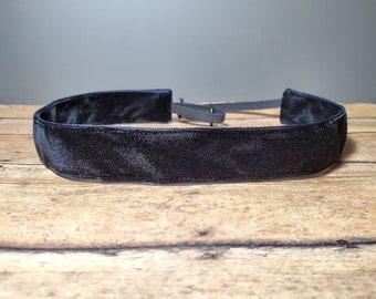 Black Velvet Nonslip headbands for women, no slip headband, workout headband, Running headband, Sports Headband, Athletic headband for women