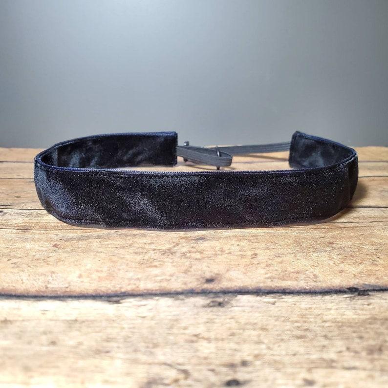 Black Velvet Nonslip headbands for women no slip headband image 0