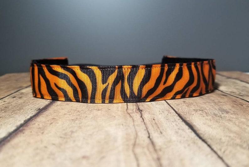 Tiger Striped Nonslip headbands for women no slip headband image 0