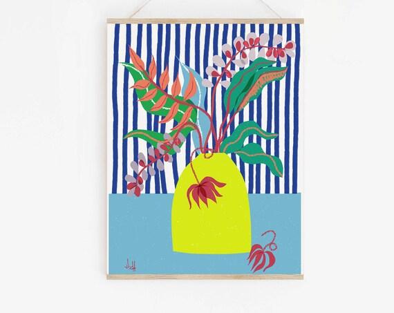 Contemporary Wall Art Print,  Living Room Decor, Cubicle Decor