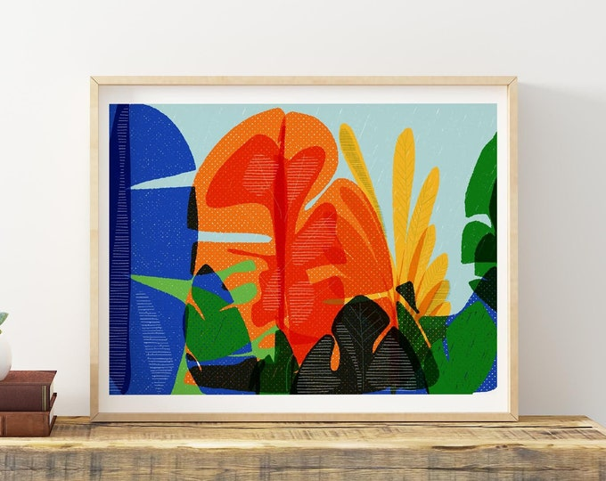 Nature inspired art | Abstract Art Print | Greenery Art Print