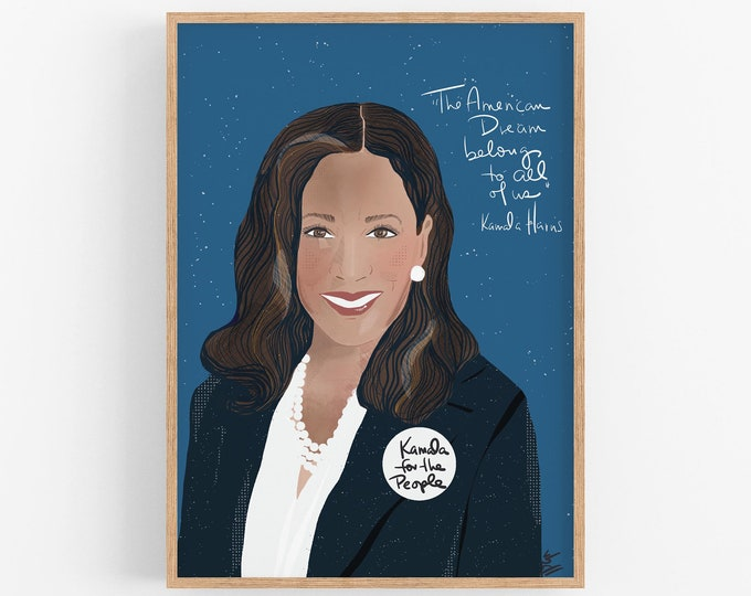 Featured listing image: Kamala Harris | DC Royalty | Inspirational women