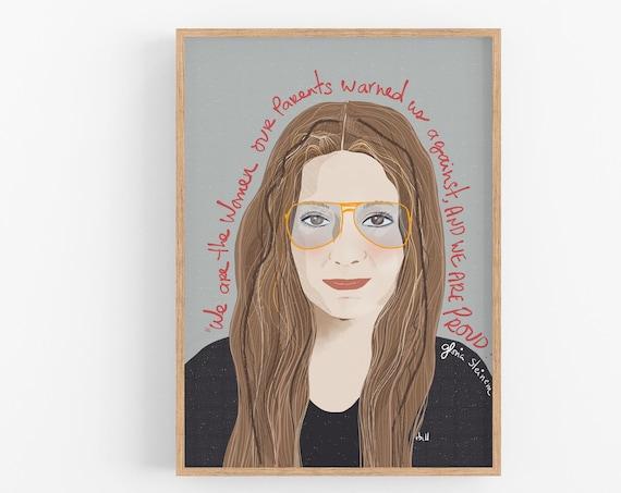 Gloria Steinem Print,Iconic Women Print, Feminist Poster