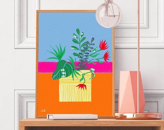 Colorful Flower Arrangement | Art Print | Feminine Wall Art | Mother's Day Gift
