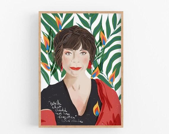 Isabel Allende Art Print Inspirational Quote