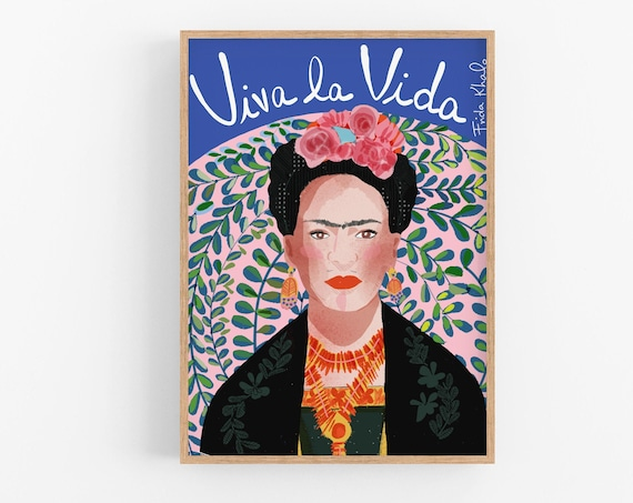 Frida Kahlo Print |  Ready to frame | Cubicle Decor | Poster | Cubicle Decor