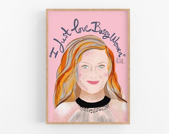 Amy Poehler Art Print Bridesmaid Gift, Feminist Wall Art