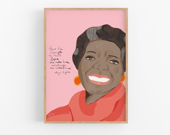 Maya Angelou Art Print, Cubicle Decor, Girl Boss Wall Art