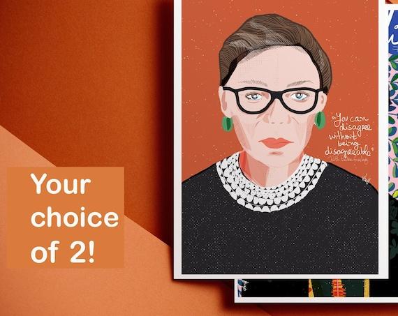 Choose your 2 prints | Iconic women Prints