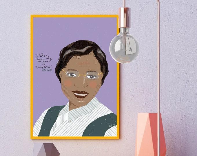 Rosa Parks  portrait | friendly advice | Trailblazers