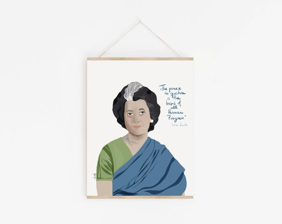 Indira Gandhi Portrait   Iconic women inspiration   Celebrity Portrait