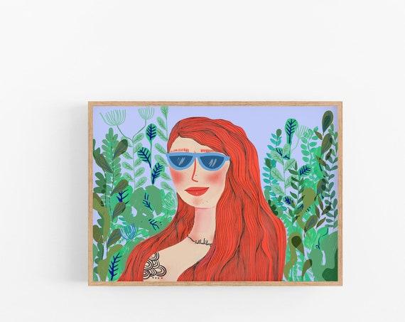 Girl Boss Office Art, Feminine Wall Decor, Apartment Decor, Novelty Print