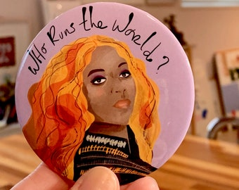 Who runs the world? Beyonce Refrigerator Magnet