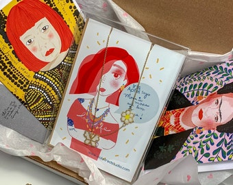 Gift Box for artist lover- Frida Kahlo and Yayoi Kusama box