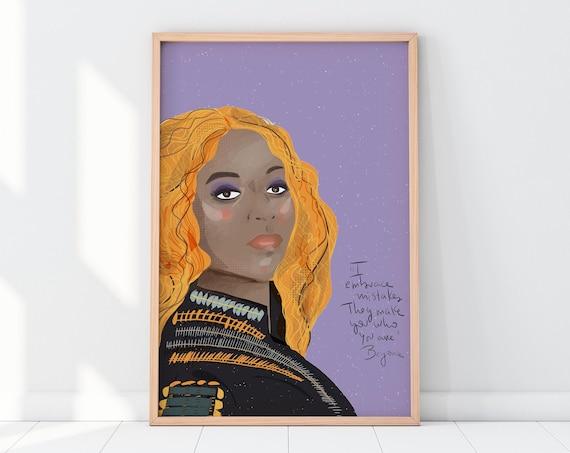 Beyonce Art Print, Gallery Wall Decor