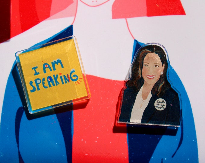 Featured listing image: Kamala Harris Pin Set | Graduation gifts | Lapel pin