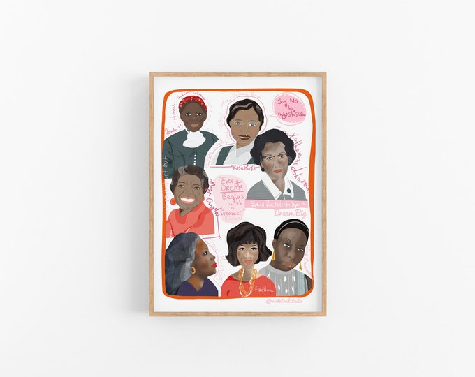 Dreamers in action | Cubicle decor | Trailblazers art print ready to frame