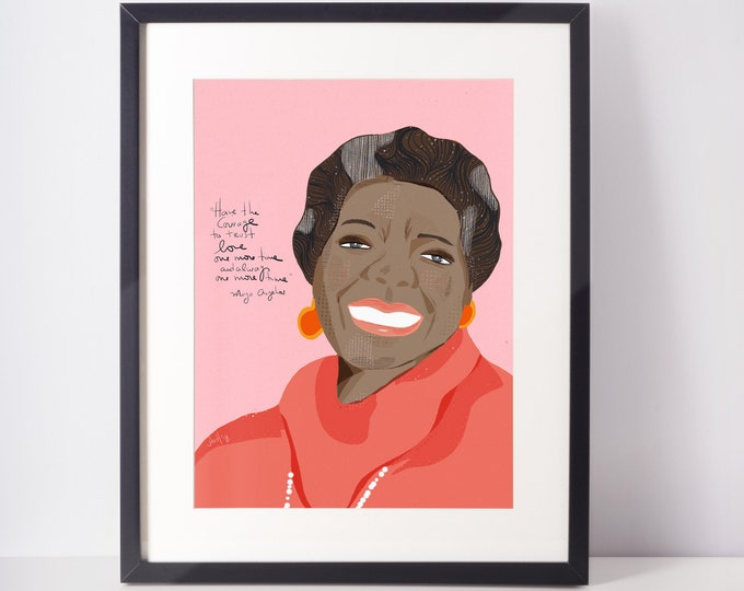 Featured listing image: Maya Angelou Portrait | Iconic Women