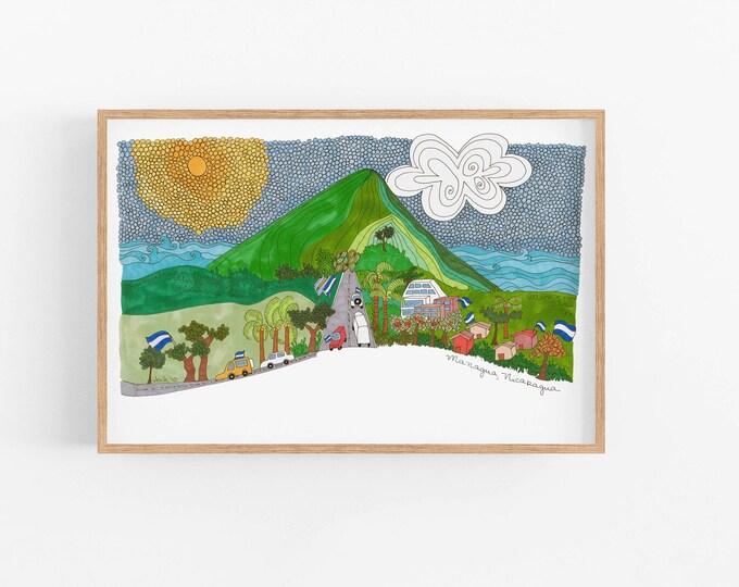 Managua |Art Print | Nicaragua Souvenirs | Happy Art |
