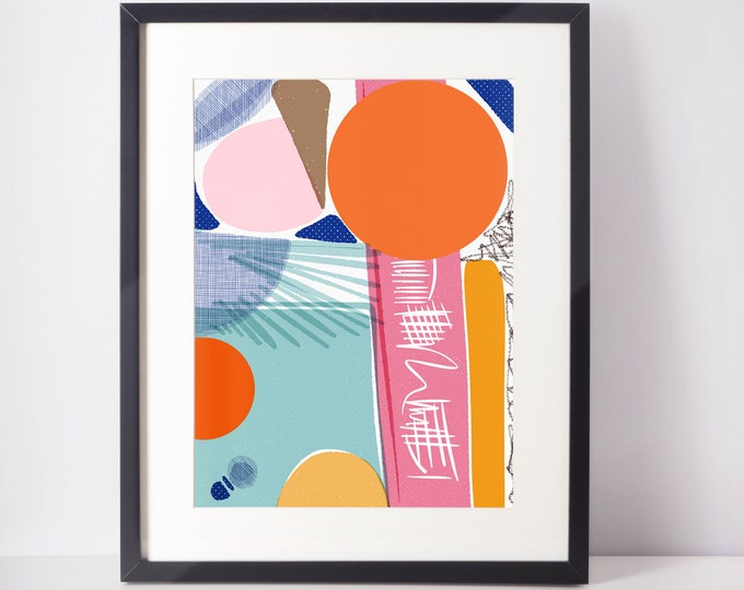 Miami Beach | Art Print | Pink abstract