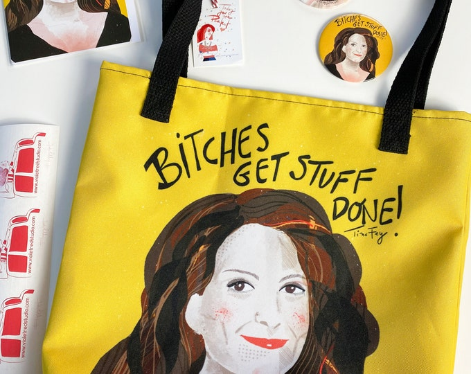 Cool Mom Gift - Tina Fey inspired bundle - Tote bag