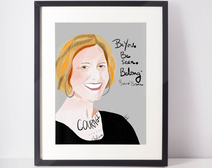Brene Brown fan art portrait
