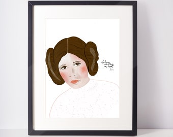 Princess Leia | Cubicle Decor | Fan Art