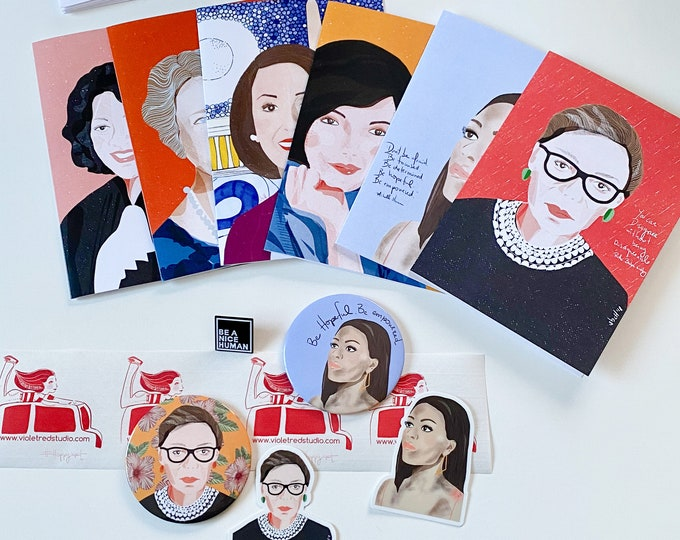 Political gift Box - Washington DC inspired- political Greeting cards-  Feminist Gifts